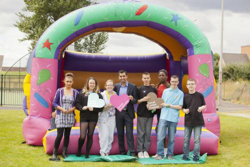 Easthall gala day Humza Yousaf MSP and members of Easthall youth committee
