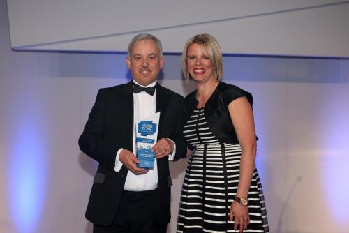 Director Receiving social landlord of the Year Award